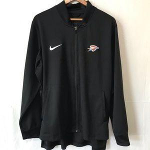 Nike OKC Thunder Dri-Fit Full Zip Warm Up Jacket